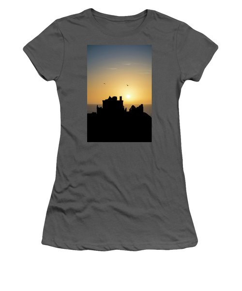 Dunnottar Castle Sunrise Women's T-Shirt (Athletic Fit)