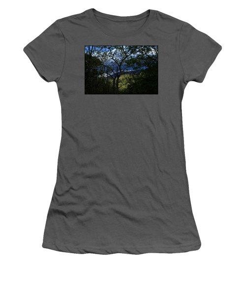 Women's T-Shirt (Junior Cut) featuring the photograph Dusk by Tammy Schneider
