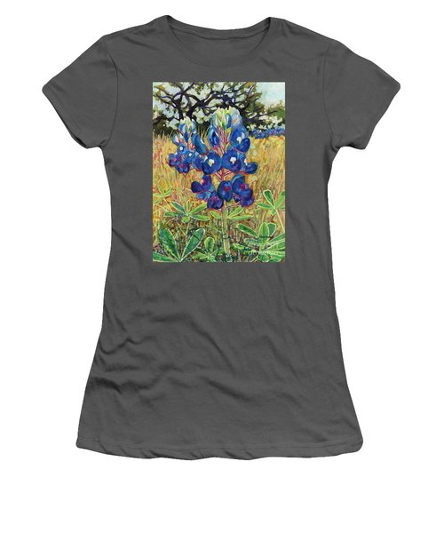Women's T-Shirt (Junior Cut) featuring the painting Early Bloomers by Hailey E Herrera