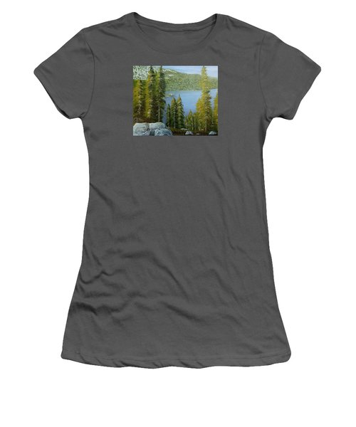 Emerald Bay - Lake Tahoe Women's T-Shirt (Junior Cut) by Mike Caitham