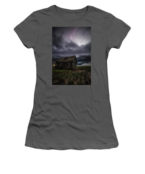 Women's T-Shirt (Athletic Fit) featuring the photograph Fear by Aaron J Groen