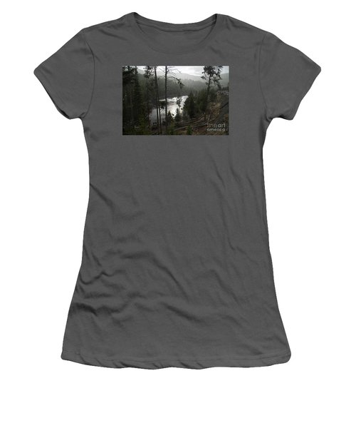 Firehole River In Yellowstone Women's T-Shirt (Junior Cut) by Cindy Murphy - NightVisions