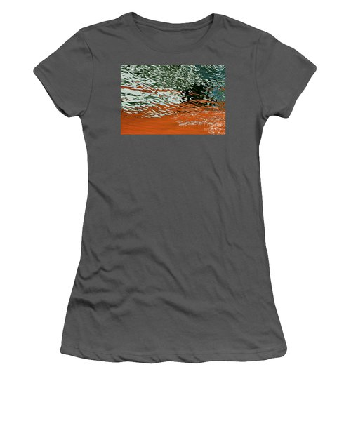 Women's T-Shirt (Athletic Fit) featuring the photograph Floating On Blue 43 by Wendy Wilton