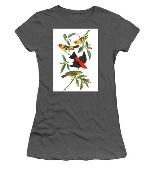Women's T-Shirt (Junior Cut) featuring the photograph Flying Away by Munir Alawi