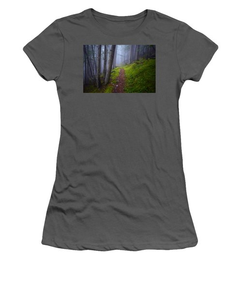 Women's T-Shirt (Junior Cut) featuring the photograph Forest Mysteries by Tara Turner