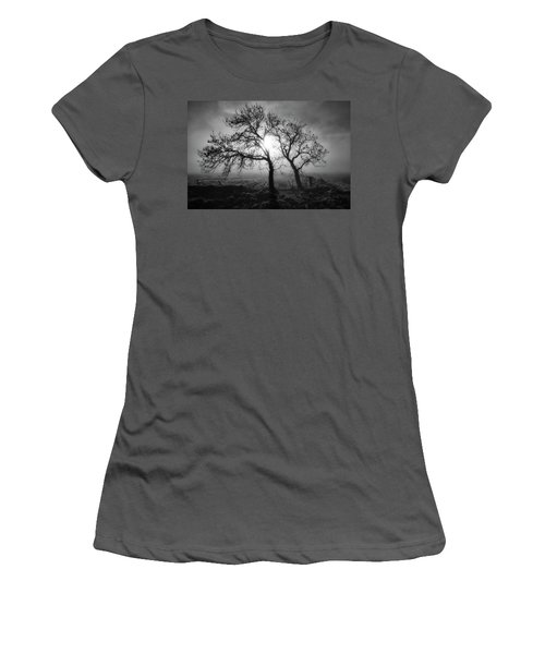 Women's T-Shirt (Athletic Fit) featuring the photograph Forever Buddies by Jeremy Lavender Photography