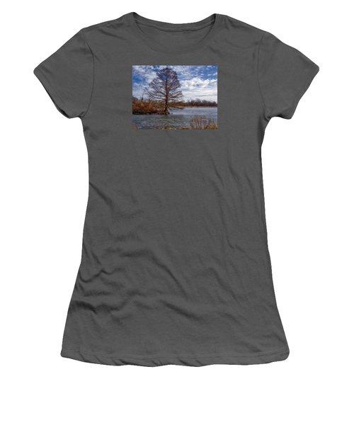 Frozen Lake Women's T-Shirt (Athletic Fit)