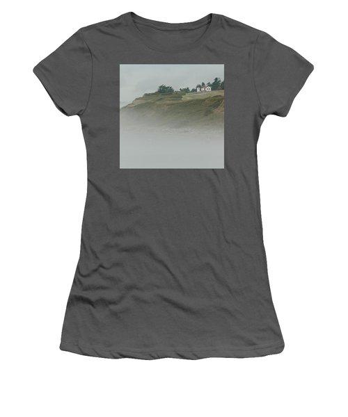 Ft. Casey Lighthouse Women's T-Shirt (Junior Cut) by Tony Locke