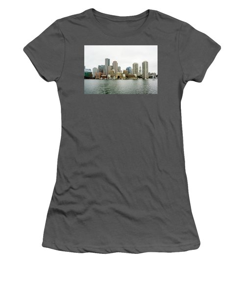 Women's T-Shirt (Junior Cut) featuring the photograph Harbor View by Greg Fortier