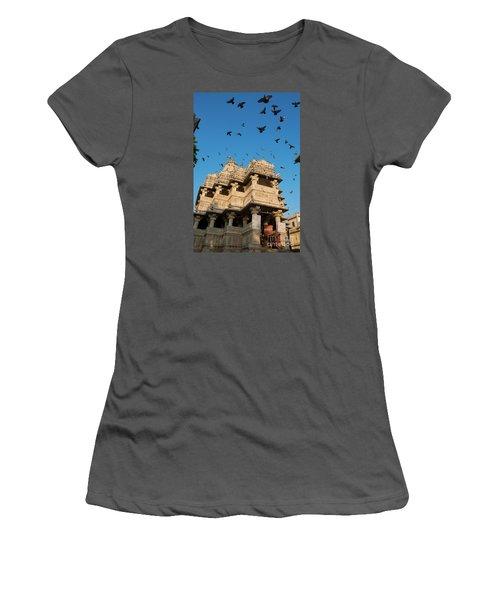 Women's T-Shirt (Athletic Fit) featuring the photograph Jagdish Temple by Yew Kwang