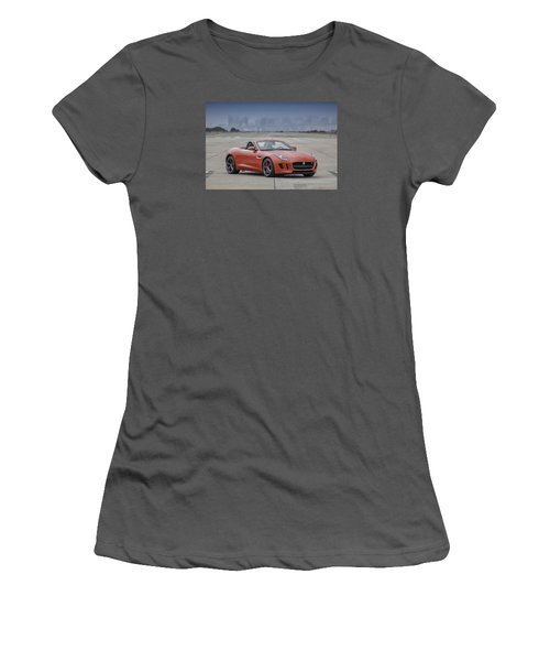 Jaguar F-type Convertible Women's T-Shirt (Athletic Fit)