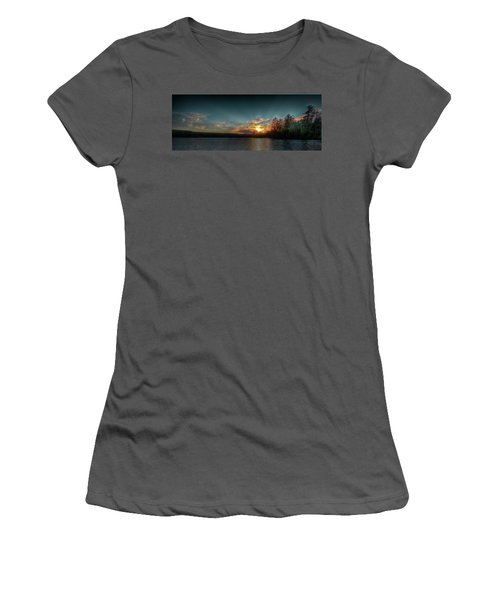 June Sunset On Nicks Lake Women's T-Shirt (Junior Cut) by David Patterson