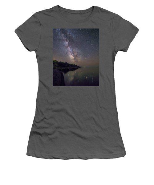 Lake Oahe  Women's T-Shirt (Junior Cut) by Aaron J Groen