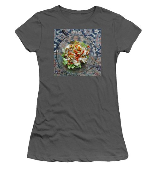 Women's T-Shirt (Athletic Fit) featuring the photograph Lets Do Lunch by Joel Deutsch