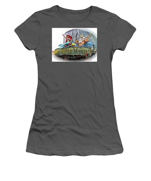 Little Mermaid Signage Mp Women's T-Shirt (Junior Cut) by Thomas Woolworth