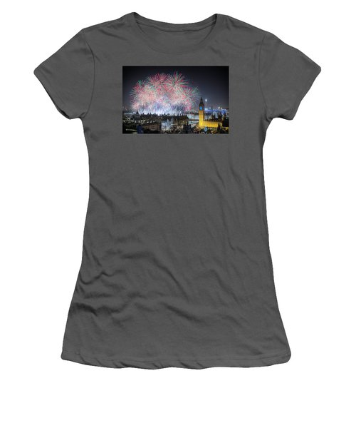 London New Year Fireworks Display Women's T-Shirt (Athletic Fit)