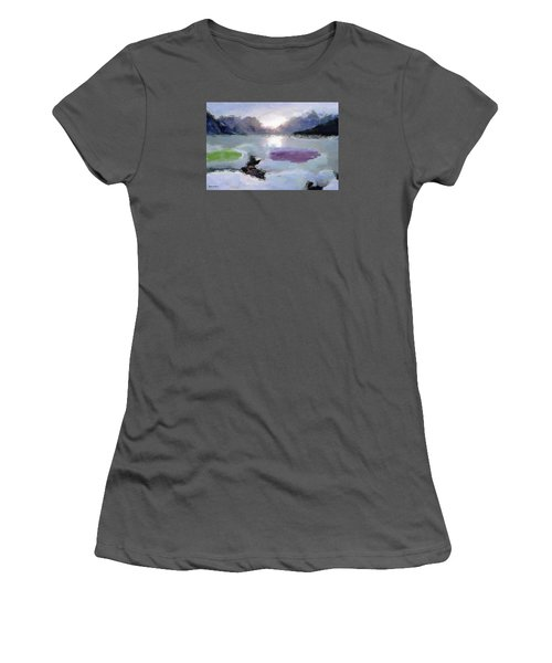 Looking Out Into The Bay Women's T-Shirt (Athletic Fit)