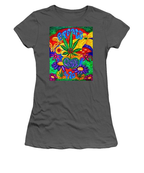 Love And Peace Women's T-Shirt (Athletic Fit)
