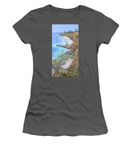 Low Tide Sunset Cliffs Women's T-Shirt (Athletic Fit)