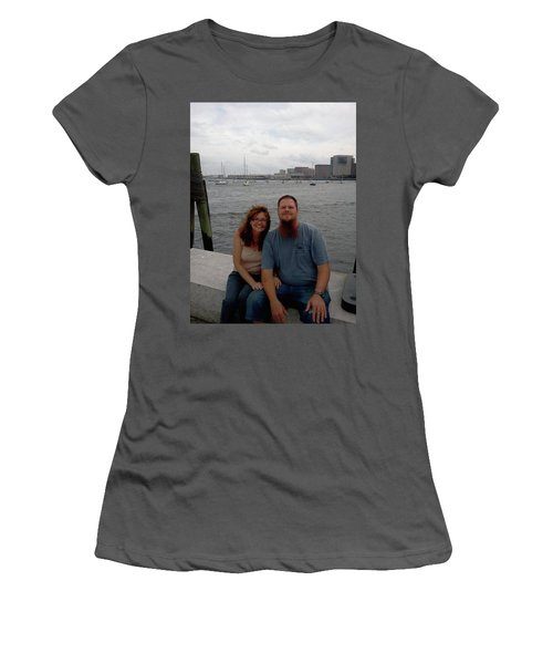Women's T-Shirt (Junior Cut) featuring the photograph me by Richie Montgomery