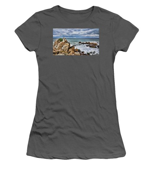 Women's T-Shirt (Junior Cut) featuring the photograph Monterey Bay by Gina Savage