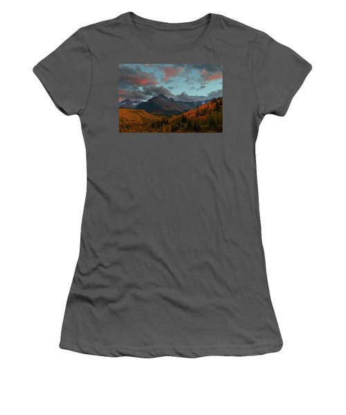 Women's T-Shirt (Junior Cut) featuring the photograph Mount Sneffels Sunset During Autumn In Colorado by Jetson Nguyen