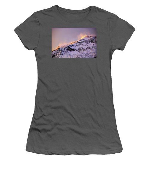 mystery mountains in North of Norway Women's T-Shirt (Athletic Fit)