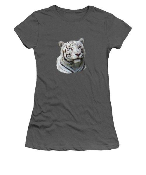 Namaste White Tiger Women's T-Shirt (Junior Cut) by Pamela Walton