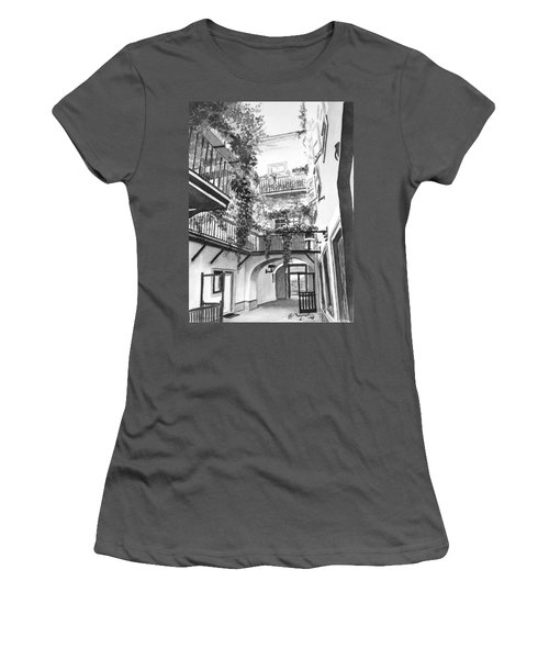 Old Viennese Courtyard Women's T-Shirt (Athletic Fit)