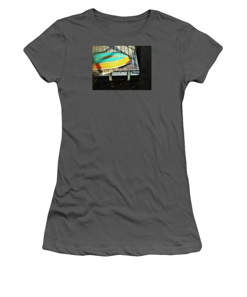 Women's T-Shirt (Junior Cut) featuring the photograph On Deck by Olivier Calas