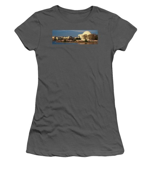 Panoramic View Of Jefferson Memorial Women's T-Shirt (Athletic Fit)