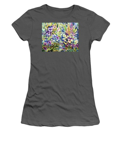 Pansy Path Women's T-Shirt (Athletic Fit)