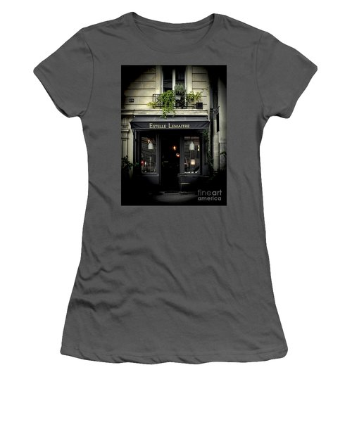 Parisian Shop Women's T-Shirt (Junior Cut) by Karen Lewis