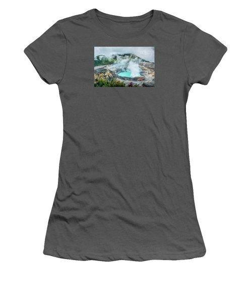 Women's T-Shirt (Junior Cut) featuring the photograph Poas Volcano, Costa Rica by RC Pics