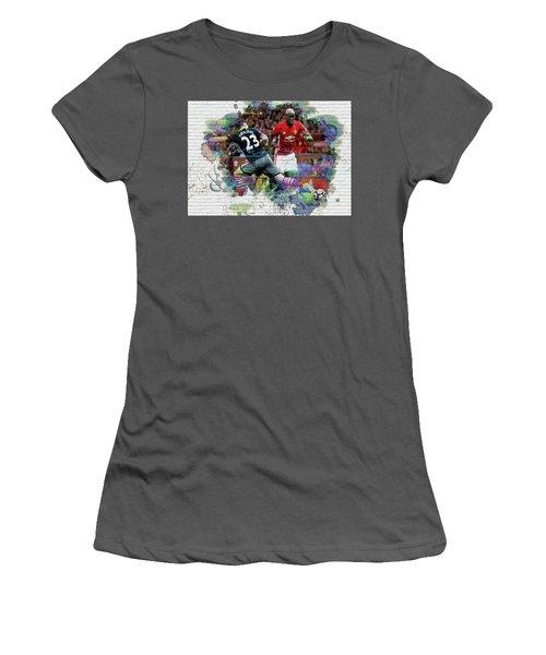 Pogba Street Art Women's T-Shirt (Athletic Fit)