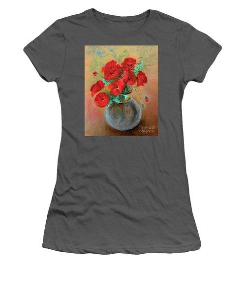 Poppies  Women's T-Shirt (Junior Cut) by Jasna Dragun