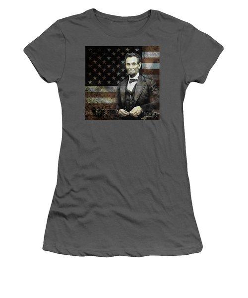 President Lincoln  Women's T-Shirt (Junior Cut) by Gull G