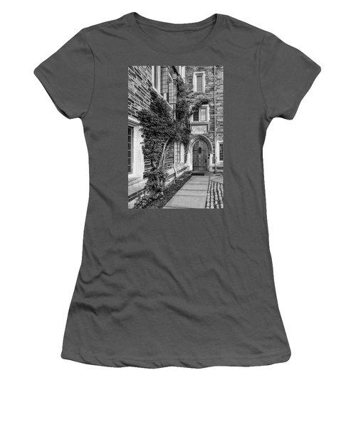 Women's T-Shirt (Junior Cut) featuring the photograph Princeton University Foulke Hall II by Susan Candelario