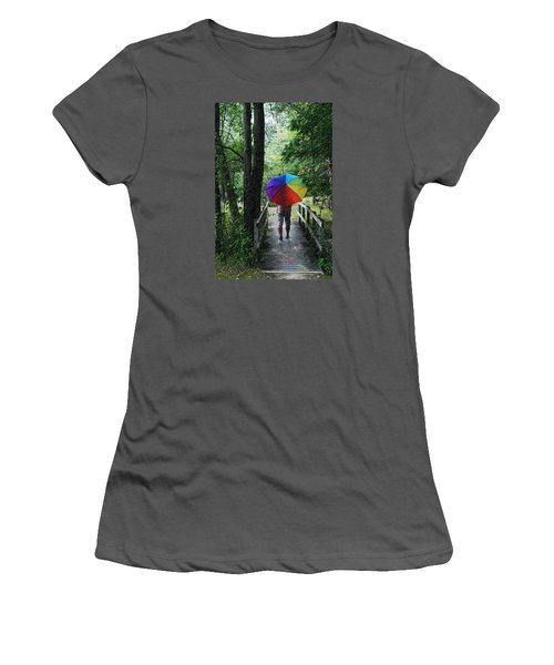 Rainy Day Women's T-Shirt (Junior Cut) by Judy  Johnson