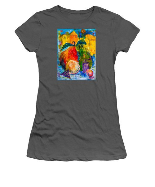Red And Green Pears Women's T-Shirt (Athletic Fit)