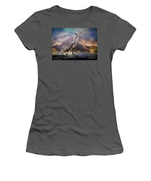 Rocky Mountain Sandhill Cranes Women's T-Shirt (Athletic Fit)