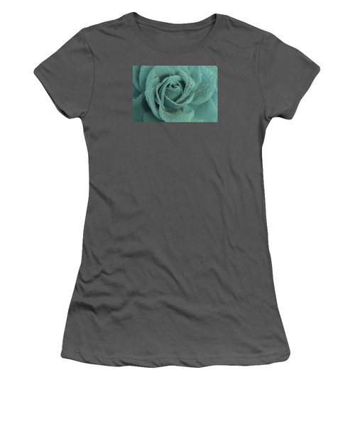 Women's T-Shirt (Junior Cut) featuring the photograph Rose Of Rain by The Art Of Marilyn Ridoutt-Greene