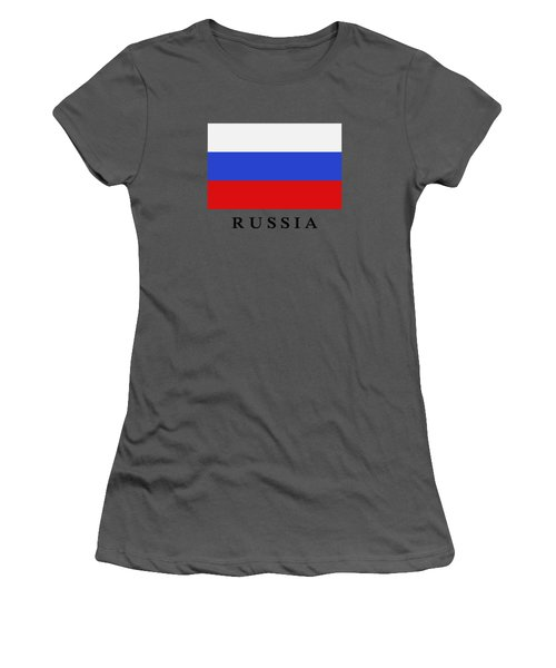 Russia Flag Women's T-Shirt (Athletic Fit)