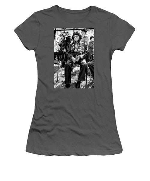 Women's T-Shirt (Athletic Fit) featuring the photograph Russian World War II Veteran Tank Commander by John Williams