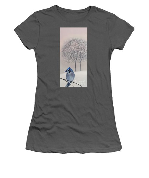 Silent Snow Women's T-Shirt (Athletic Fit)