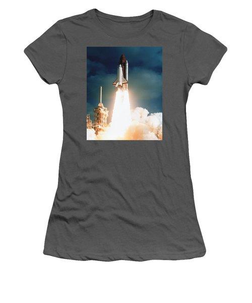 Space Shuttle Launch Women's T-Shirt (Athletic Fit)
