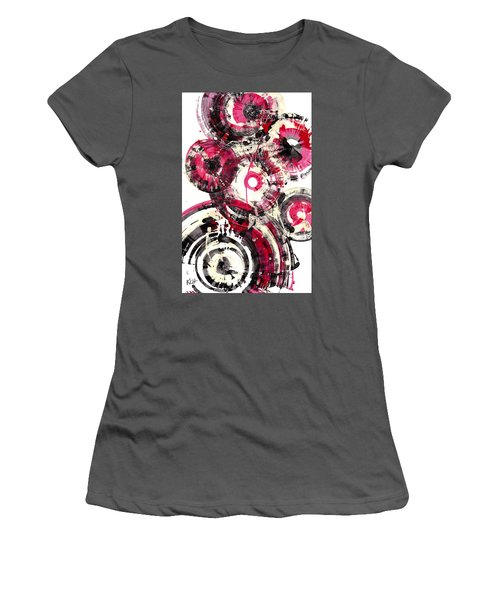 Women's T-Shirt (Athletic Fit) featuring the painting Sphere Series 1025.050412 by Kris Haas