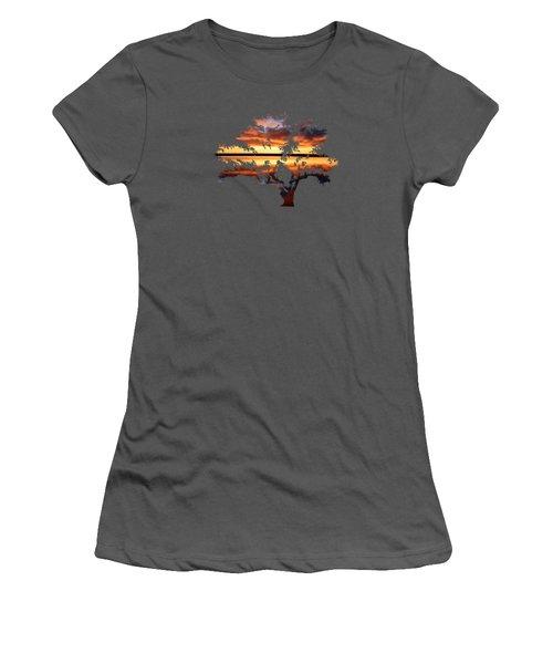 Sunrise Tree Women's T-Shirt (Athletic Fit)