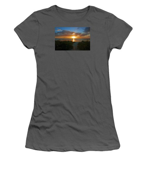 Sunset At Delnor Wiggins Pass State Park Women's T-Shirt (Athletic Fit)