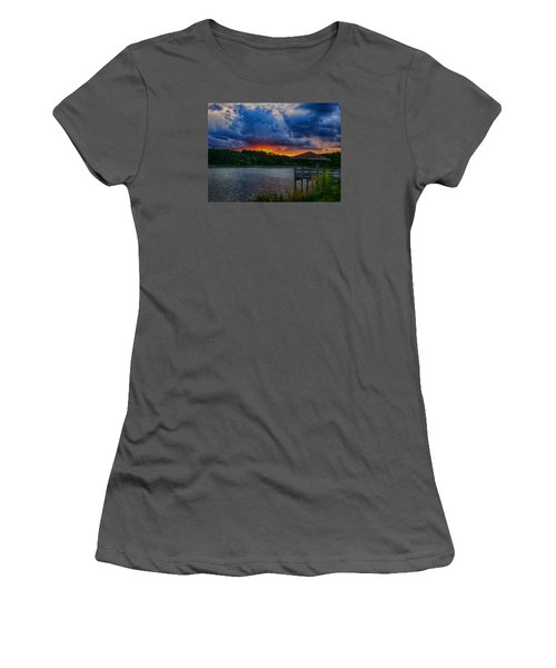 Sunset Huntington Beach State Park Women's T-Shirt (Junior Cut) by Bill Barber